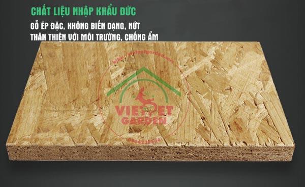 Chất liệu gỗ ép, không biến dạng, không nứt